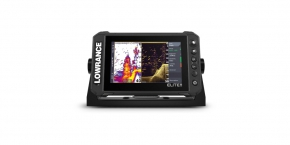 Lowrance Elite 7 FS su davikliu Active 3-IN-1 ROW